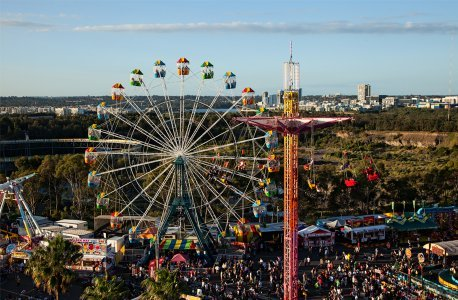 Ferris wheel at he Easter show