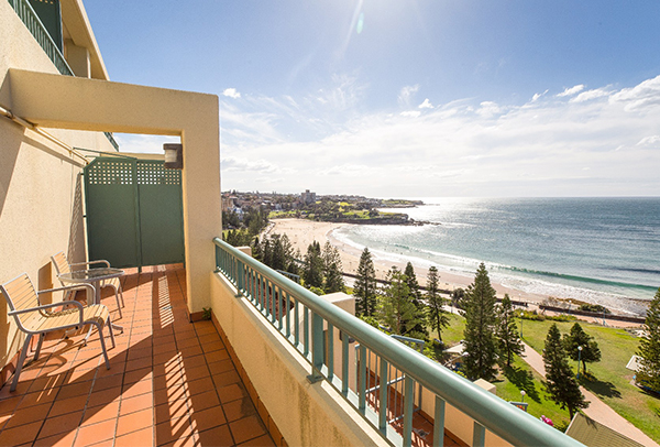 Photograph of Ocean Front Suite at Crowne Plaza Coogee Beach, Sydney.