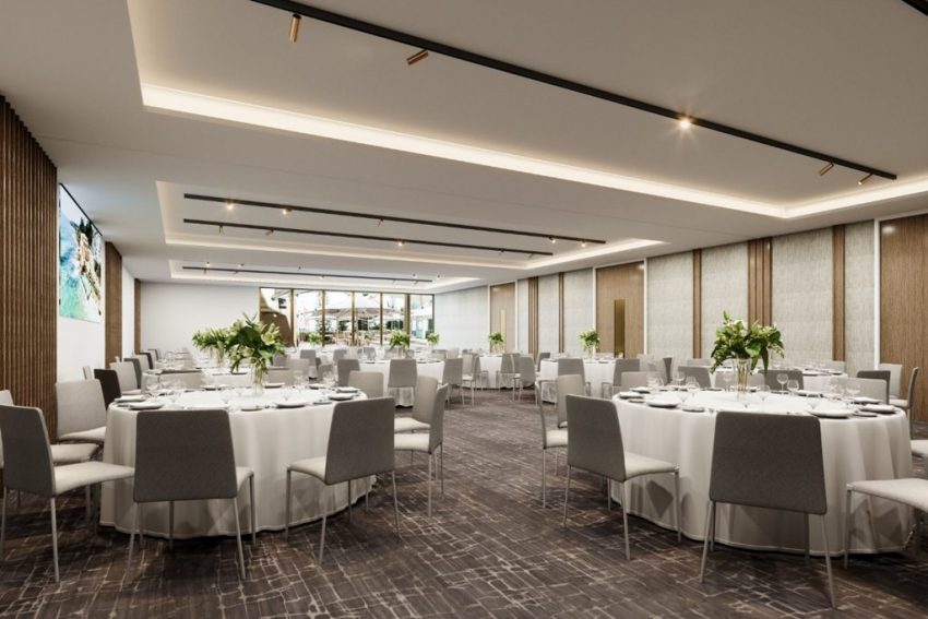 New event space render at Crowne Plaza Coogee Beach, Sydney