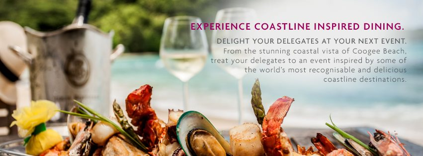 Coatlines Inspired Dining package and event venue hire at Crowne Plaza Sydney Coogee Beach