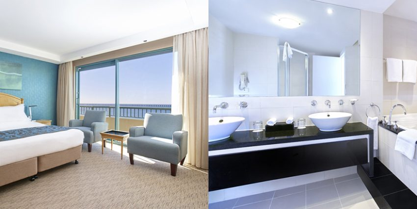 Ocean Front View Room at Crowne Plaza Sydney Coogee Beach