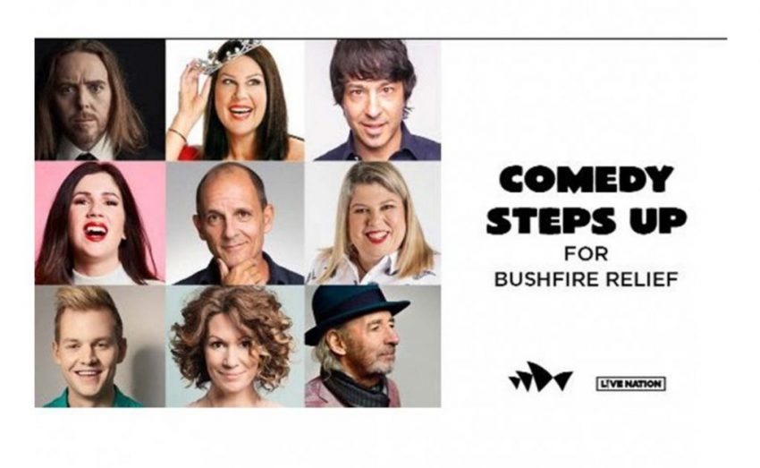 Comedy Steps Up For Bushfire Relief in the Sydney Opera House forecourt