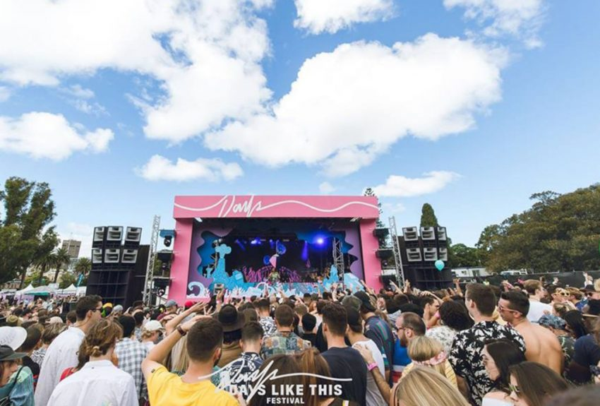 Days Like These Festival located in Victoria Park, Sydney