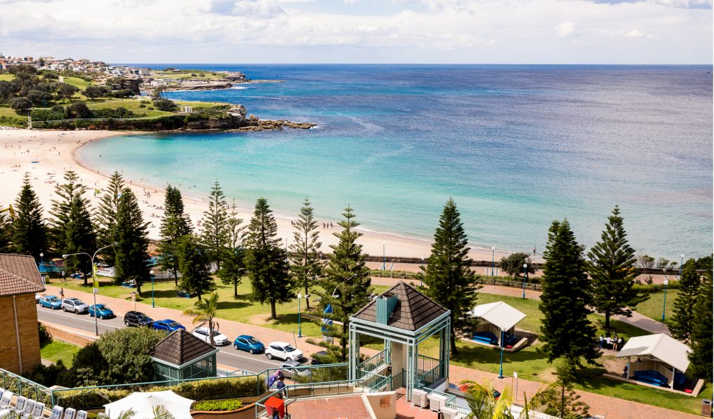 Ocean Front balcont view at Crowne Plaza Sydney Coogee Beach