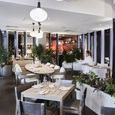 Dining setting at Estate Coogee Beach