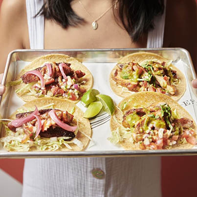 Tacos served at Estate Coogee Beach
