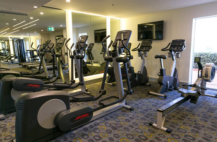 Hotel gym at Crowne Plaza Sydney Coogee Beach