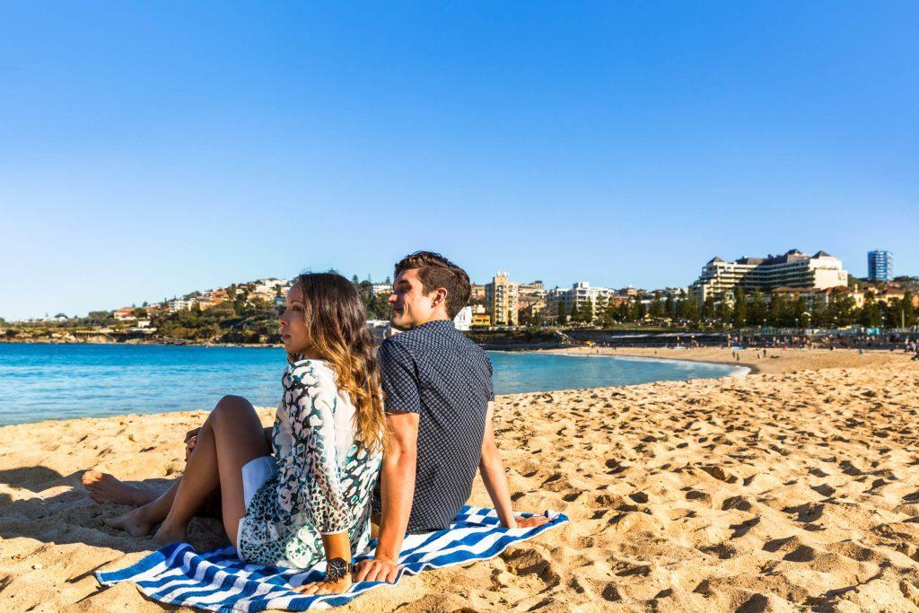Couple enjoying a day on the beach