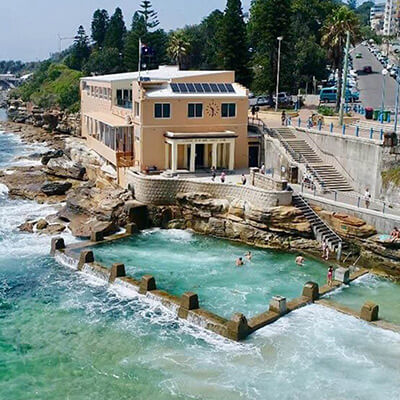 Swimming at Coogee Baths