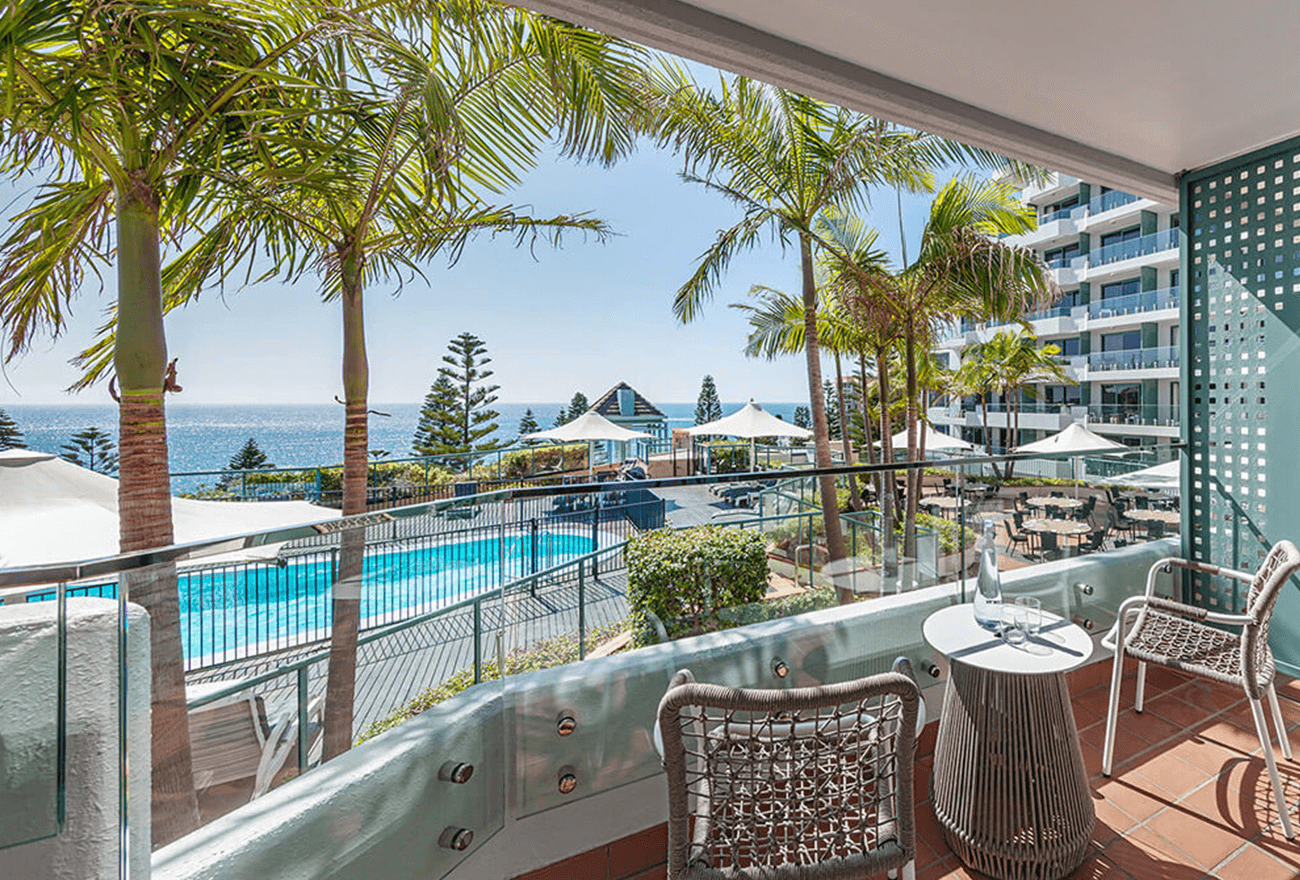 Twin Pool View Room at Crowne Plaza Sydney Coogee Beach