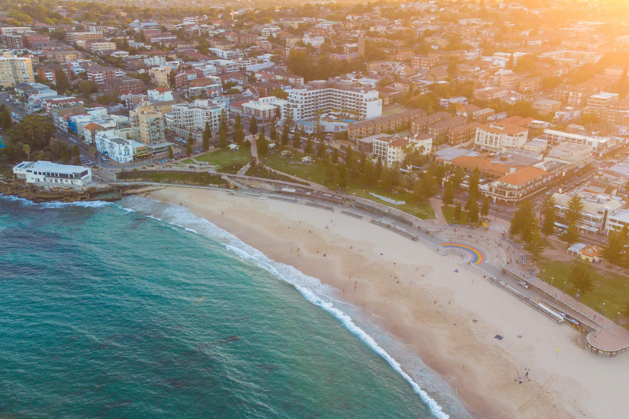 Aerial view of Crowne Plaza Sydney Coogee beach