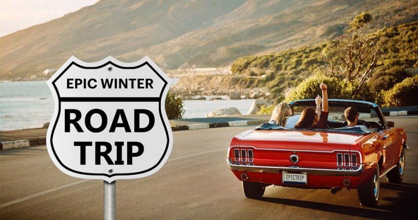 Epic Winter Road Trip hero creative